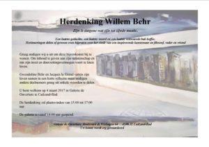 Herdenking Willem behr